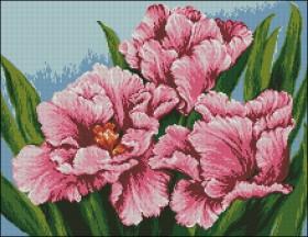 Схема вышивки бисером на атласе Тюльпаны
