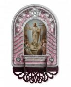 Набор для вышивки иконы с рамкой-киотом Воскресение Господа Иисуса Христа