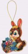 Набор для изготовления игрушки из фетра для вышивки бисером Зайчик