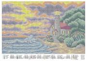 Схема вышивки бисером на атласе Маяк
