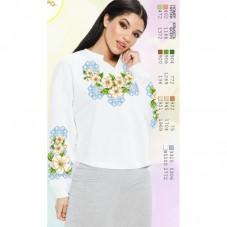 Заготовка женской сорочки на белом габардине Biser-Art SZ81