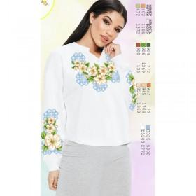 Заготовка женской сорочки на белом габардине Biser-Art SZ81 - 320.00грн.