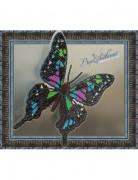 Набор для вышивки бисером на прозрачной основе Бабочка Графия Веска