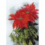 Набор для вышивки нитками на канве Рождественская звезда