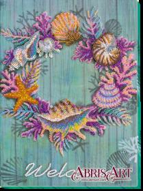 Набор для вышивки бисером Венок из ракушек, , 317.00грн., АВ-596, Абрис Арт, Натюрморты