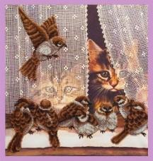 Набор для вышивки бисером Дразнилки Картины бисером Р-335