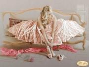 Рисунок на ткани для вышивки бисером Балерина