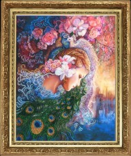 Набор для вышивки бисером Райские птицы (по картине J.Wall) Баттерфляй (Butterfly) 447Б