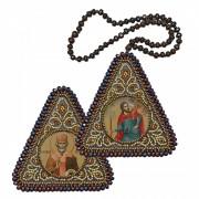 Набор для вышивания бисером двухсторонней иконы оберега Св. Христофор и Николай Чудотворец