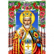 Схема вышивки бисером на габардине Святой Николай Biser-Art 30х40-А684