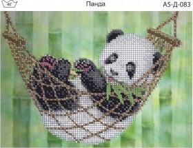 Схема для вышивки бисером на габардине Панда