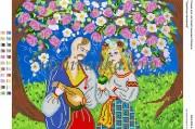 Схема для вышивки бисером на атласе Українські вечорниці