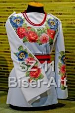 Заготовка для вышивки бисером Сорочка женская Biser-Art Сорочка жіноча SZ-11 (габардин)