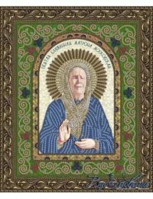 Схема для вышивки бисером на атласе Икона Святая Блаженная Матрона Московская