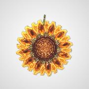 Набор для вышивки подвеса Цветок солнца