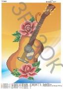 Схема для вышивки бисером на атласе Гитара