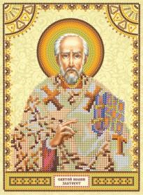 Схема для вышивки бисером на холсте Святой Иоанн (Иван)