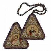 Набор для вышивания бисером двухсторонней иконы оберега Св. Равноап. Князь Владимир и Ангел Хранитель