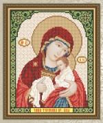 Схема для вышивки бисером на габардине Богородица Чаша Терпения
