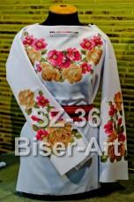 Заготовка для вышивки бисером Сорочка женская Biser-Art Сорочка жіноча SZ-36 (габардин)