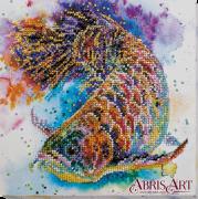 Набор-миди для вышивки бисером на натуральном художественном холсте Рыбка удачи