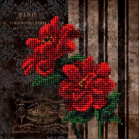 Набор для вышивки ювелирным бисером Цветы 6