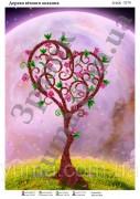 Схема вышивки бисером на атласе Дерево вечной любви