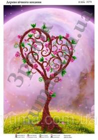 Схема вышивки бисером на атласе Дерево вечной любви, , 61.00грн., ЮМА-3279, Юма, Схемы и наборы для вышивки бисером по Фен шуй