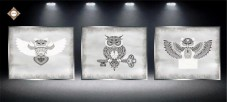 Схема для вышивки бисером на атласе Секрет Триптих