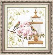 Набор для вышивки крестом Пение птиц