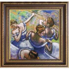 Набор для вышивки нитками на канве Голубые танцовщицы по картине Эдгара Дега