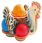 Набор-деревянные конструктор Большая пасхальная курица в голубых тонах