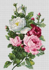 Набор для вышивки крестом Букет из роз Luca-S BA22855