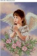 Схема для вышивки бисером на габардине Милый ангел