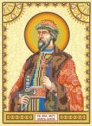 Схема для вышивки бисером на холсте Святой Борис