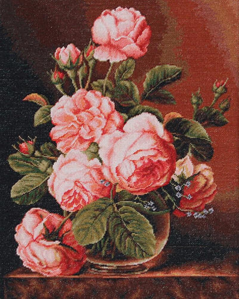 Купить набор для вышивки крестом розы