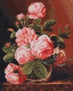 Набор для вышивки крестом Ваза с розами