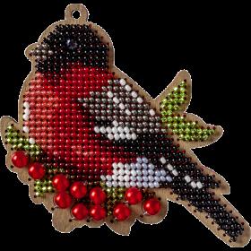 Набор для вышивки бисером по деоеву новогодней игрушки Снегирь ВышивкаБисером FLK-324 - 97.00грн.