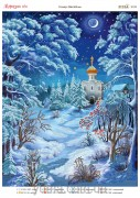 Схема вышивки бисером на атласе Морозная ночь
