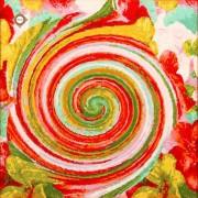 Схема-заготовка для вышивки бисером декоративной подушки В вихре цветов