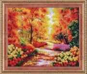 Набор для вышивки бисером Осенний сквер