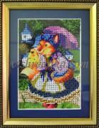 Рисунок на габардине для вышивки бисером Лисица