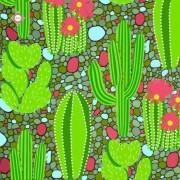 Схема-заготовка для вышивки бисером декоративной подушки Кактусовая долина