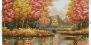 Схема для вышивки бисером на габардине Пастельна осінь