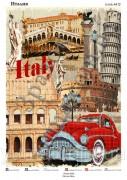 Схема вышивки бисером на атласе Италия