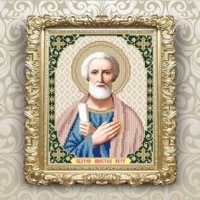 Схема вышивки бисером на габардине Св. Петр
