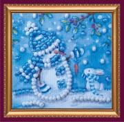 Набор - магнит Снеговик и зайка