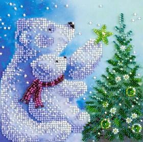 Набор для вышивки бисером на холсте Умка, , 106.00грн., АМ-175, Абрис Арт, Новый год