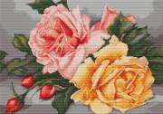 Набор для вышивки крестом Розы