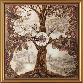 Набор для вышивки в смешанной технике Дерево - Часы, , 858.00грн., ЕМ1001, Новая Слобода (Нова слобода), Часы